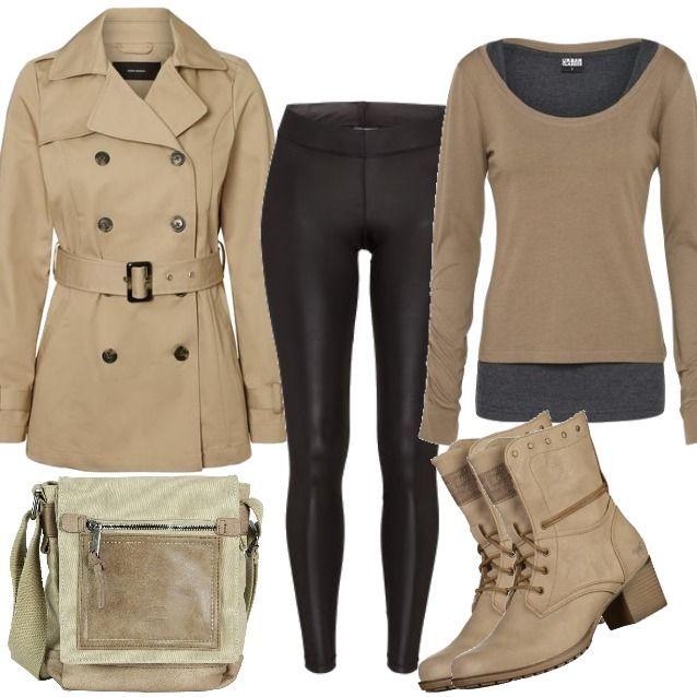 low priced 259f4 cdd6c VERO MODA Trenchcoat beige Outfit für Damen zum Nachshoppen ...