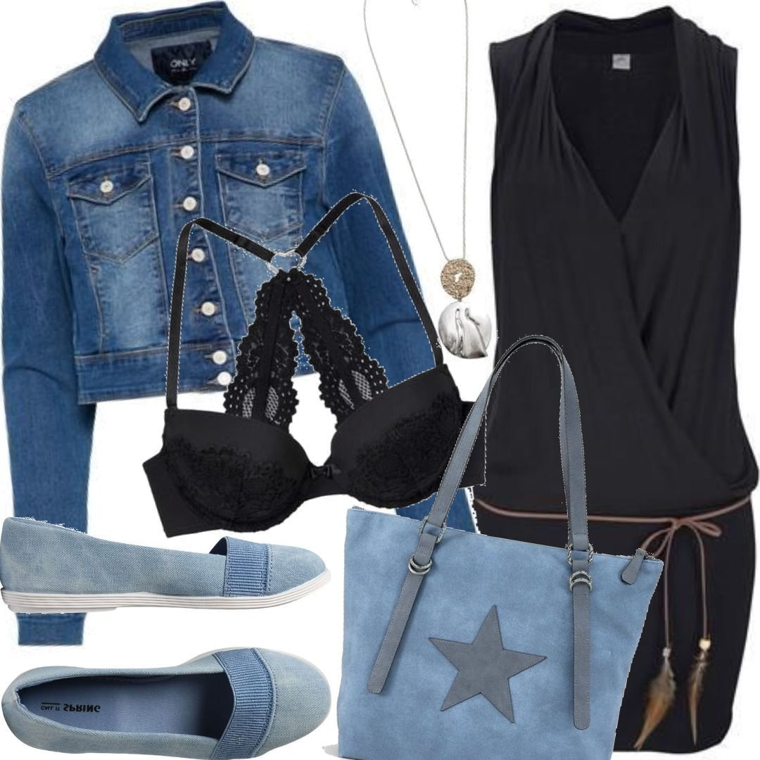 new concept ef6c7 6ad4f ONLY Cropped Jeansjacke Outfit für Damen zum Nachshoppen auf ...