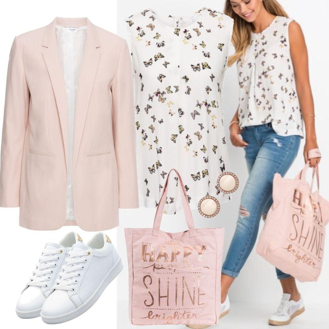 7e438dcdb4 Shirt-Blazer langarm in rosa für Damen von bonprix für Damen zum ...