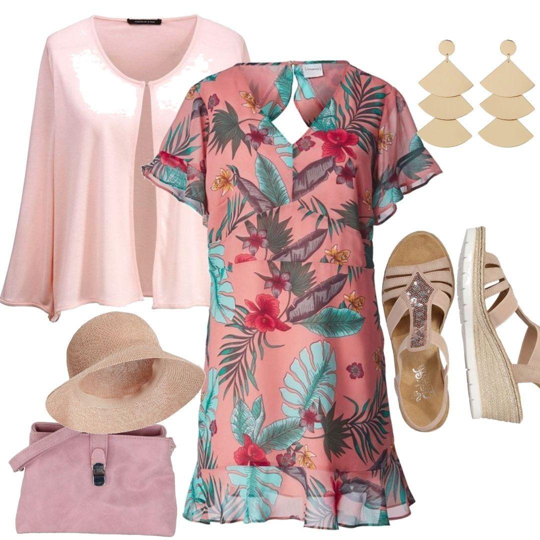 5d249afec72df3 Große Größen Kleid Volants Junarose Outfit für Damen zum Nachshoppen ...