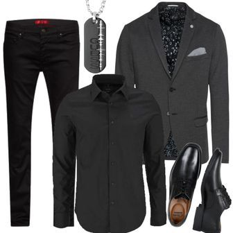 SELECTED HOMME Sakko SLHONE-CARL BLAZER B NOOS anthrazit Schwarz Men Outfit ca35c2239b