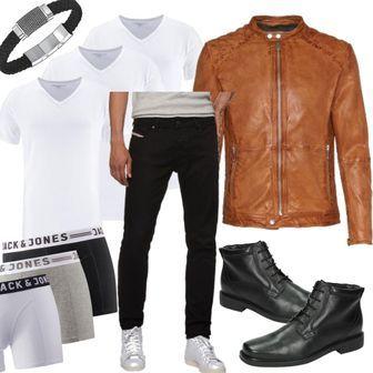 FREAKY NATION Lederjacke Dylan cognac Beige Men Outfit 6ac29087a2