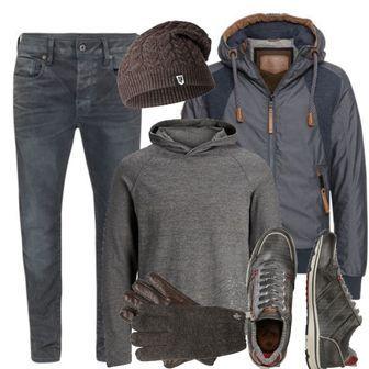 Naketano Jacke blau JACK   JONES Leichter Strickpullover grau Men Outfit 89bb7e11e9