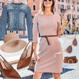 e9b5ee2dbc67fd Jasmine Ottoman-Kleid Pink Damen Boden