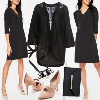 7987955b3683fd Bronte Ottomankleid Schwarz Outfit