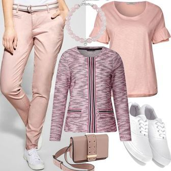 729c65d2523dca Street One Lässige Chino Hose Outfit